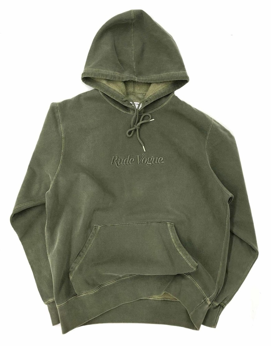 Rude Vouge Tonal Hoodie-Washed Olive
